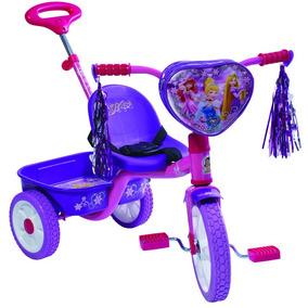 Triciclo Princesas Disney Con Barra Empuje R12