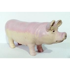 Bichos Da Fazenda - Miniatura De Porco - Leitoa 11 Cm Pvc