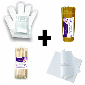 100 Kits Manicure Descartável Toalha, Luva, Lixa E Palito