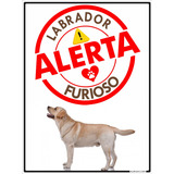 Placa Decorativa Alumínio Labrador Furioso Pet Shop 20x30cm