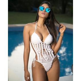 Trikini Traje D Baño Completo Tejido A Mano Crochet Bikini