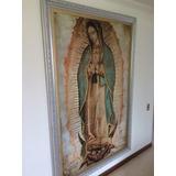 Lienzo Virgen De Guadalupe (imagen Certificada) 120x75 Cm