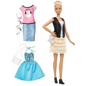 Boneca Barbie Fashionistas Com Acessórios - Mattel 3 Look