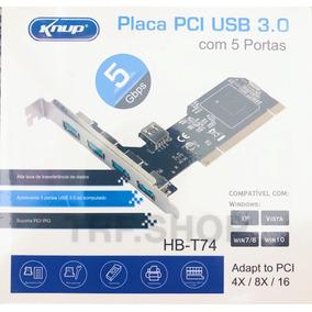 Placa Pci Usb 3.0 Para Pc Com 5 Portas 5gbps Knup Hb-t74