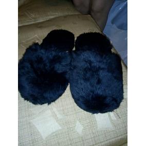 Pantuflas Cotizas Acolchadas Color Negro. Sirve De 38 A 40