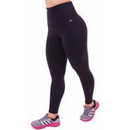 Calça Legging Fitness Cós Alto, Kit 3 Calças, Poliamida