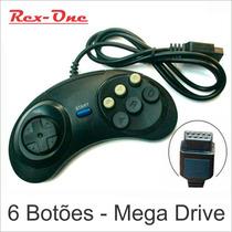 Controle Sega Mega Drive 1 2 3 Master Com 6 Botões Similar