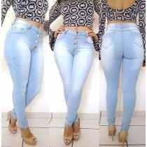 Calça Jeans Feminina Atacado Cintura Média Kit C/ 10