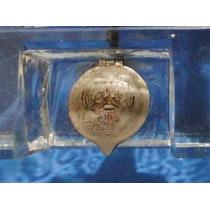 Antiguo Tintero De Vidrio Tapa Y Apoya Lapiceras Gran Tamaño