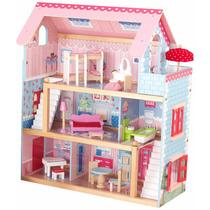 Casa Casinha De Bonecas Com Móveis Cottage Kidkraft Chelsea
