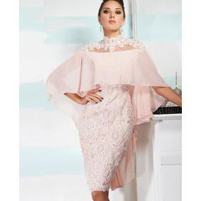 Vestido Curto Seda Festa Casamento/ Madrinha Mãe Da Noiva