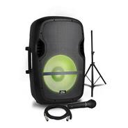 Caixa Ativa 15  Elevate Lp Com Tripé E Microfone - Pro Bass