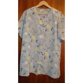 Camisas Blusas Manga Corta Mujer Talles Amplios Lisas Flores