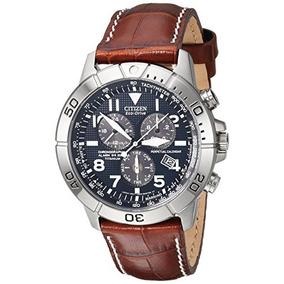 Citizen Mens Bl5250-02l Titanium Eco-drive Watch With Leathe