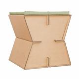 Taburete X1 Dglaf Mueble De Cartón Incluye 2 Bancos