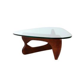 Mesas De Centro Minimalista De Cristal Madera Solida Design