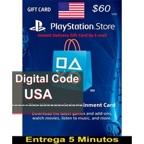 Psn 60 Usd Playstation Store Gift Card Entrega En 5 Minutos