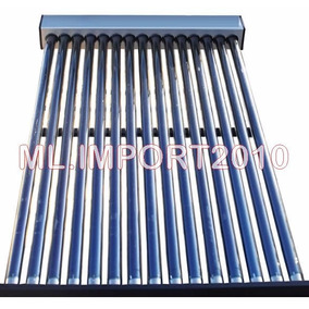 Aquecedor Coletor Solar A Vácuo Totalizando 30 Tubos A Vacuo