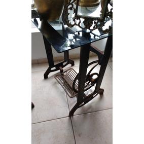 Pe De Maquina De Costura De Ferro Antigo Elgim