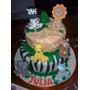 Tortas Decoradas Infantil Selva Animalitos Zoo 4kg Deco Inc