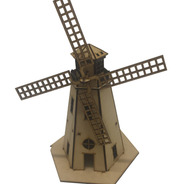 Souvenirs Infantil Molino Tipo Holandes 27cm Mdf Fibrofacil