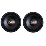 2 Falante Woofer Fox 12 650w Rms 8 Ohms Auto Som Aud650