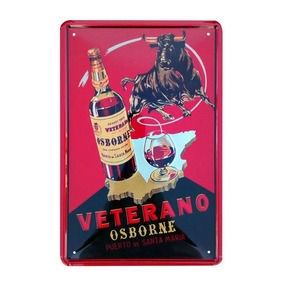 Cartel De Chapa Vintage Retro Osborne - Desillas