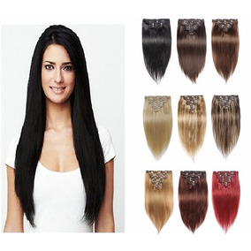 Extensiones Naturales 22 Remy Humano Set 8 Cortinas Clips