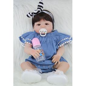 Bebê Reborn Silicone Menina Barato Laço Frete Grátis As016