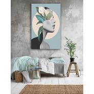 Cuadros Decorativos Minimalistas Canvas Retrato Floral