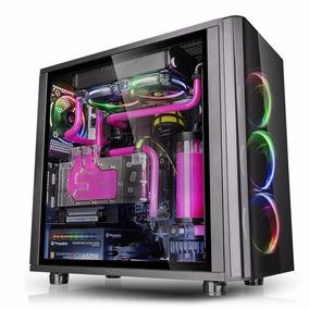 Gabinete Tt View 31 Black Temped Glass Rgb 3x Coolers