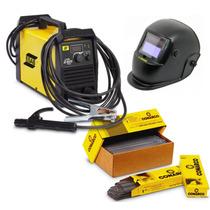 Máquina De Solda Esab Lhn 240i Plus + 5kg Eletrodo + Mascara