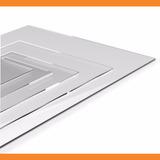 Placa De Acrílico Transparente 33 Cm X 33 Cm X 2mm - 100%