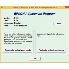 Reset Epson L120 100% Ilimitado