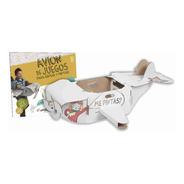 Avión Gigante Para Armar Y Colorear + Stickers + Colores