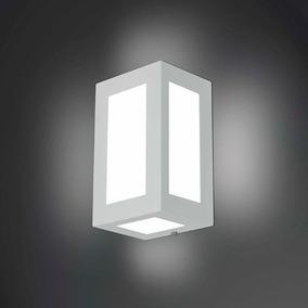Arandela 5 Vidro Luminária Parede Retangular Externa Bs631