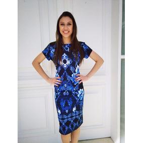 Vestido Midi Estampa Azulejo