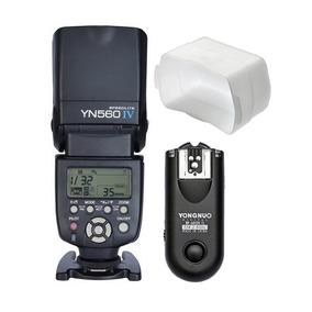 Flash Yongnuo 560 Iv + Difusor Con Rf 603 Para Canon