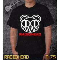Camisetas Radiohead Rock Roll Bandas Preta Iron Maiden