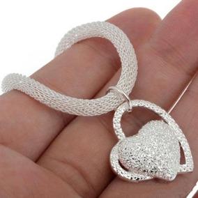 Collar Corazón Doble Bisutería Fina Envío Incluido