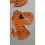 Forma Aplique Souvenirs Dinosaurio Rex En Goma Eva