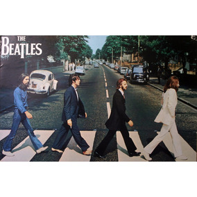 Poster De La Portada Disco Los Beatles Abbey Road Enmarcado