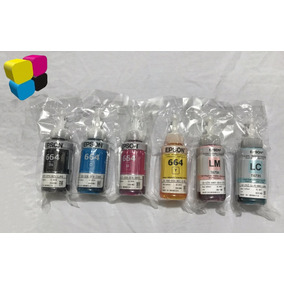Tinta Epson Original Combo Para L800 6 Colores 70ml