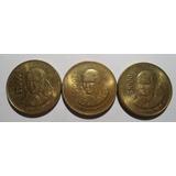 (3 Pz) 1,000 Pesos 1988 Y 1992 Juana De Asbaje - Eum