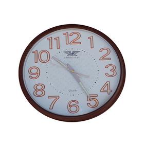 Relógio Parede Brilha No Escuro Fluorescente 30cm 9022marrom