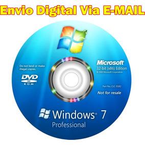 Cd De Formatação Windows 7 Pro 32bits + Ativador Original