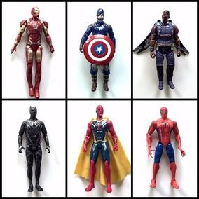 Kit 6 Bonecos Vingadores Marvel The Avengers Guerra Civil