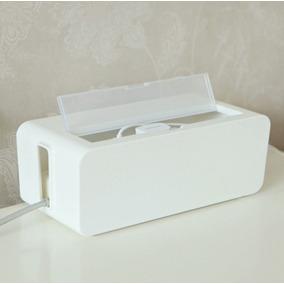 Tapa Cable Caja + Esqueleto Guardar Zapatilla Y Cables Pc