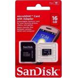 Cartão De Memória Micro Sd 16gb Lacrado Samsung/galaxy/lg