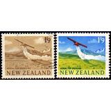 Nueva Zelanda Serie X 2 Sellos Usados Avión Fumigando 1960-7